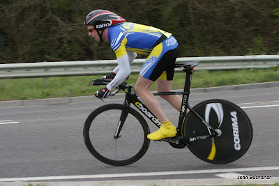 Time Trial Secretary - James Gomm in action in an open time trial 2013