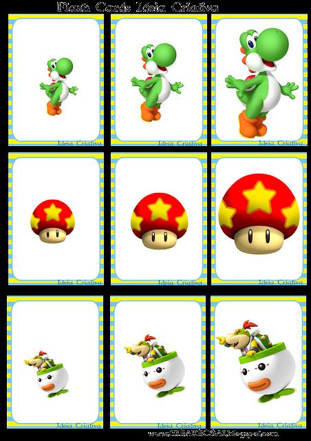 Flash Cards para trabalhar com os tamanhos em sequência.