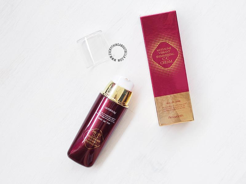 Amaranth Messaline Vibrant Shimmering CC Cream - Beauty Blogger Indonesia