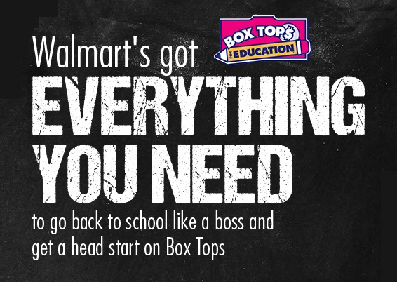 Box Tops at Walmart