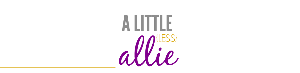 A little (less) Allie