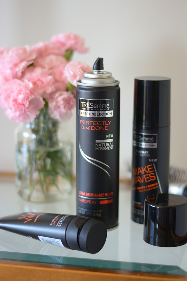 TRESemme Perfectly (un)Done Hair Spray doesn't leave your hair feeling sticky or stiff!
