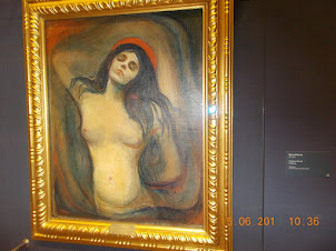 """Madonna"" by Edvard Munch.in the NATIONAL GALLERY OF OSLO."