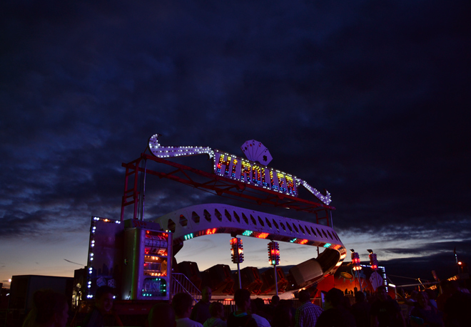 fair ride at dusk