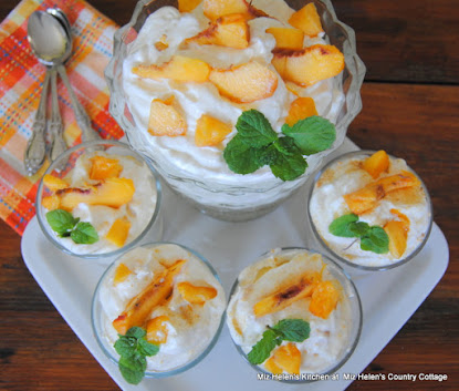 Fresh Peach Ice Box Dessert