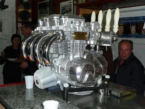 Random Thoughts Of Drunkards Motorcycle Engine Beer Dispenser