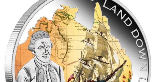 Australia Silver The Land Down Under Captain James Cook