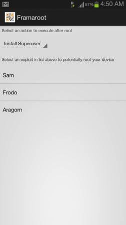 How to root Android via Framaroot