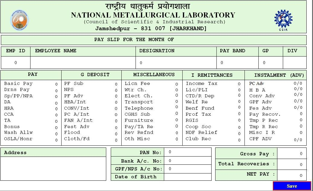 NATIONAL METALLURGICAL LABORATORY, JAMSHEDPUR: Changes made in ...