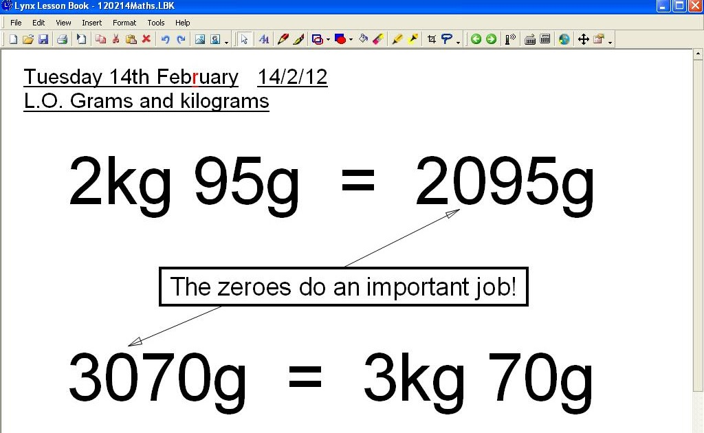 Mr Howes Class Maths Grams And Kilograms