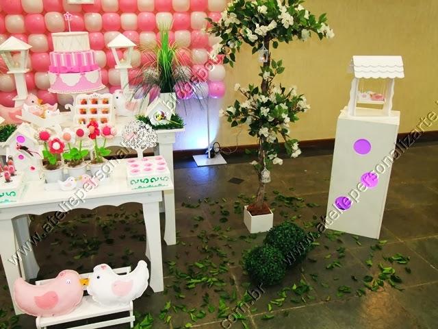 decoracao provencal festa rosa e branco