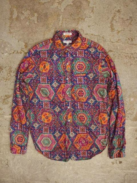 engineered garments 19th century bd shirt in multicolored psychedelic print spring/summer 2014 sunrise market
