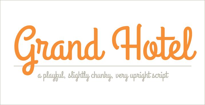 35 Font Script untuk Desain grafis - Grand Hotel Script Font