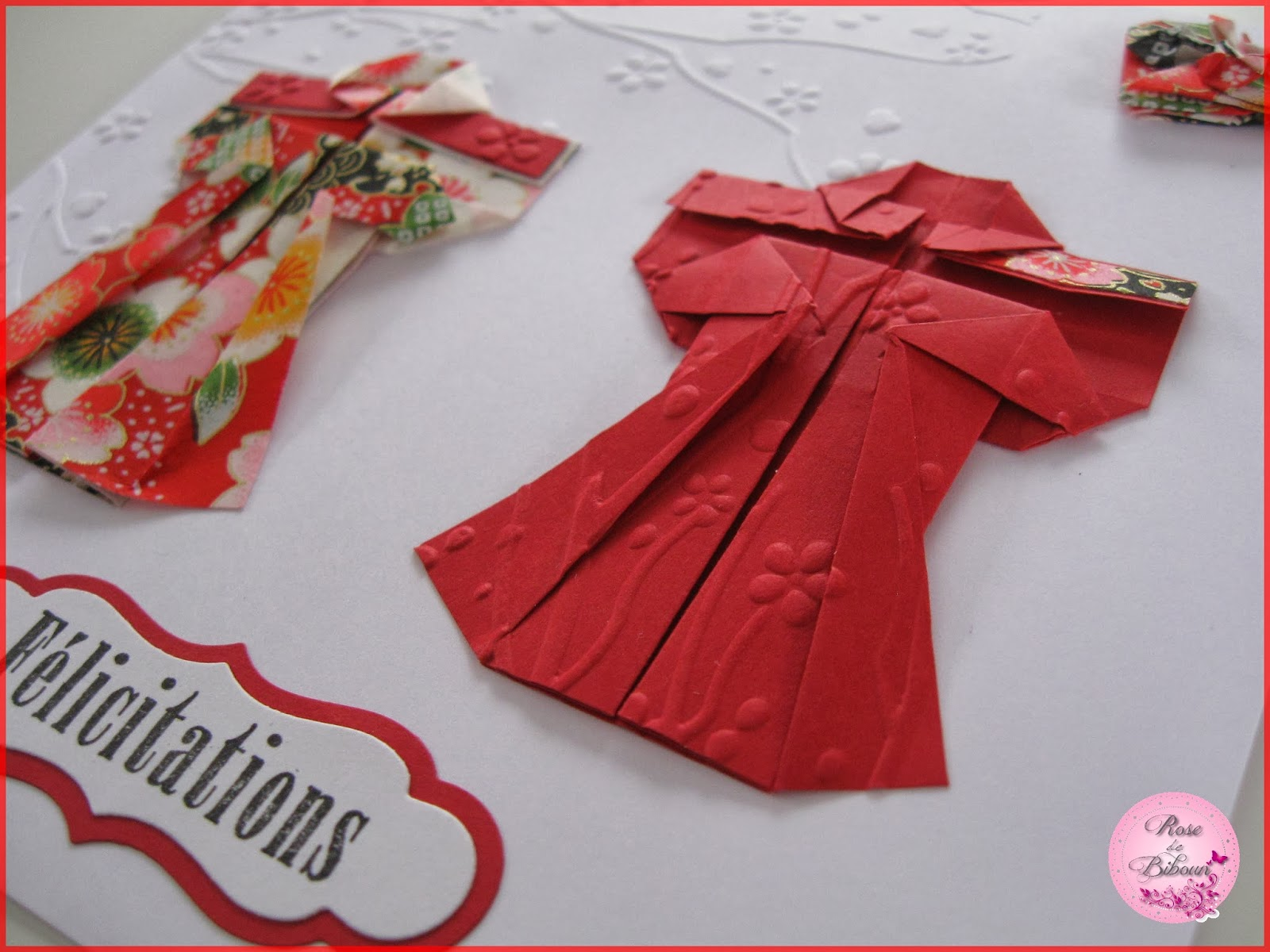 rose de biboun carte de f licitations mariage origami. Black Bedroom Furniture Sets. Home Design Ideas