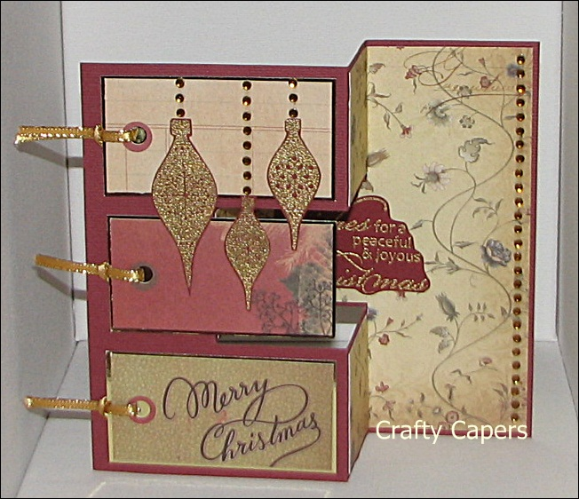 Crafty Capers Tri Fold Card Instructions