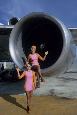 two sexy stewardesses are better than one