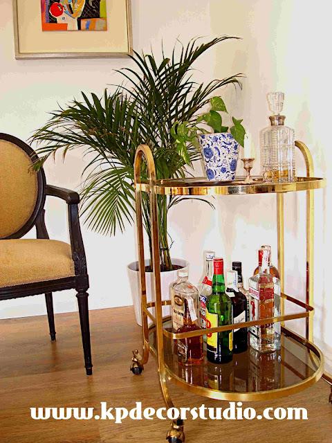 comprar camarera vintage dorada online