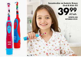 Szczoteczka na baterie Braun Oral-B Kids D2 z Biedronki