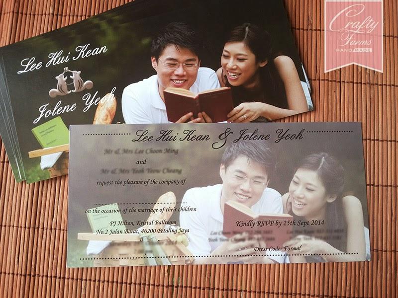 Petaling Jaya, Kuala Lumpur Kad Kahwin, Wedding Postcard with Photo