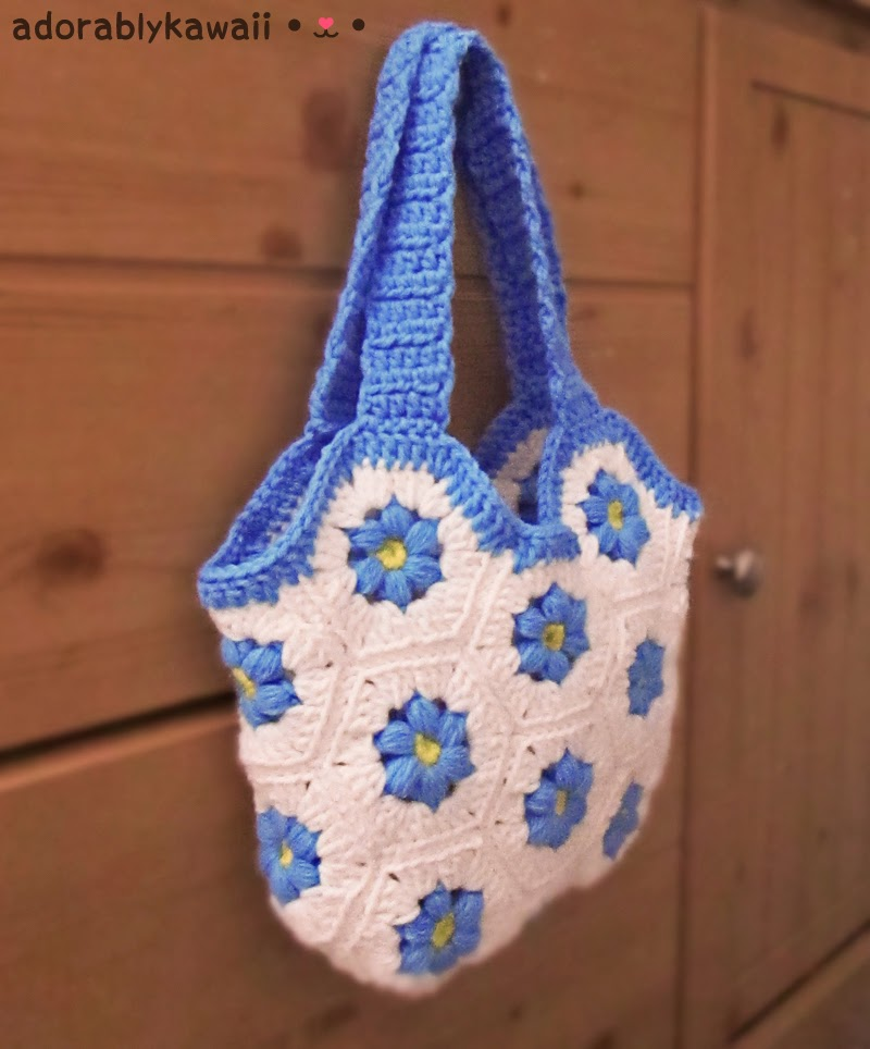Crochet Hexagon Bag : The pattern includes written instructions, chart, diagrams, and photos ...