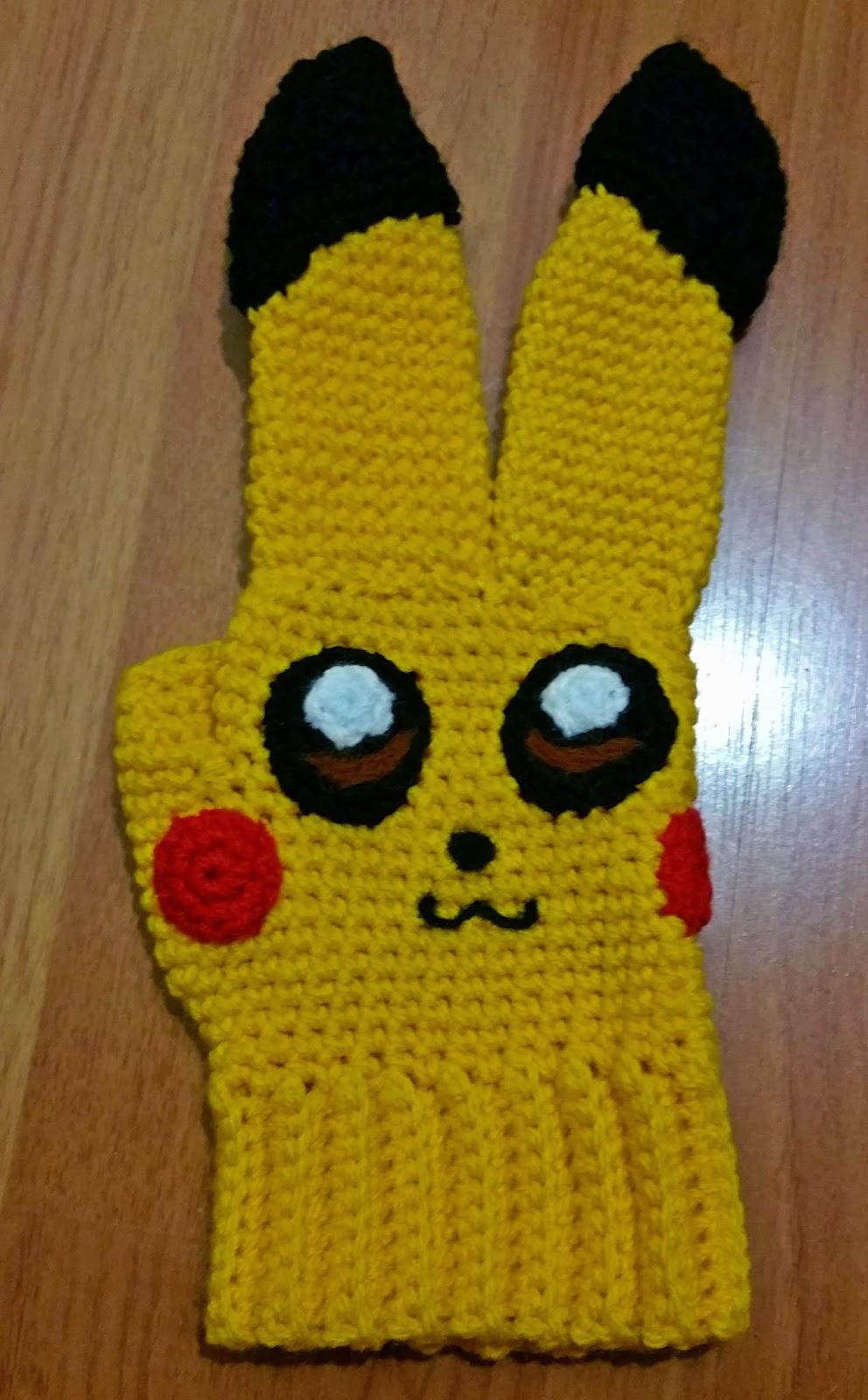 The pokemon crochet journey!: Pikachu Glove Pattern!