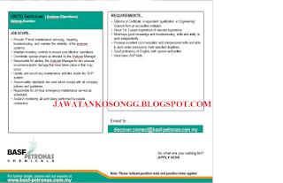 Peluang Kerjaya Basf Petronas