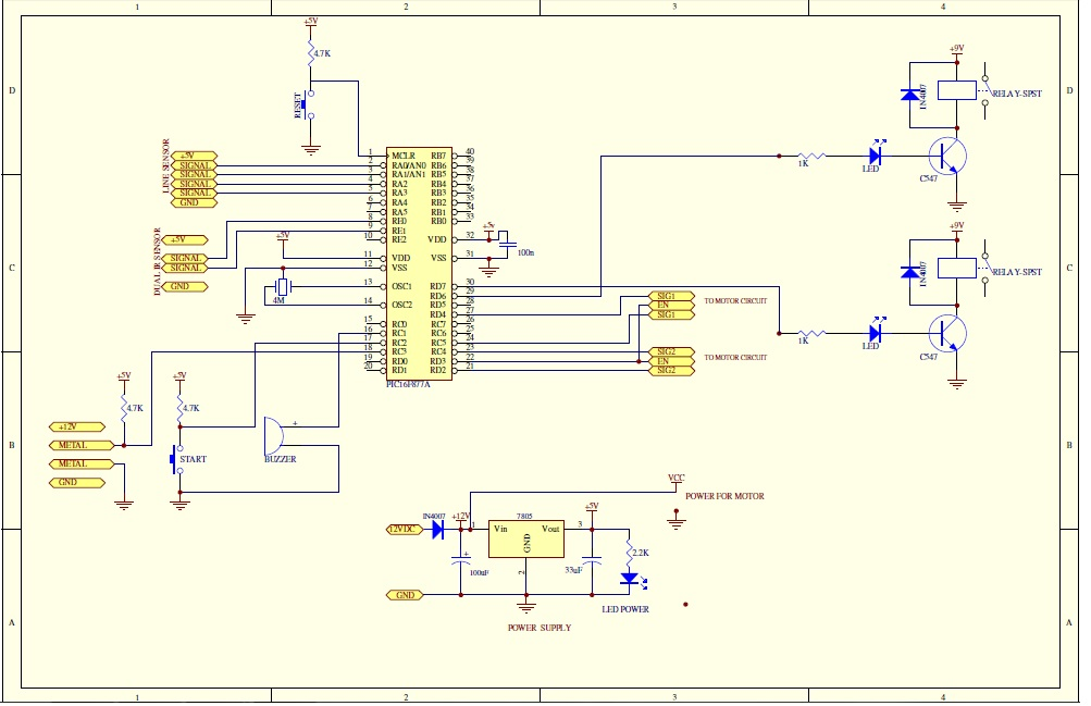 Final Year Project  Schematic Diagram Of Pic 16f877a