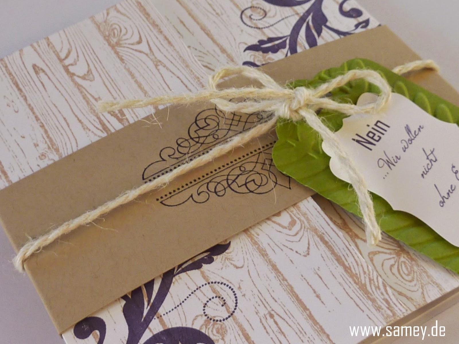 Samey Atelier Farbstil Einladungskarte Zur Hochzeit In Lila Grun