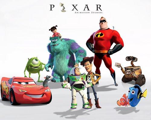 pixar characters wallpaper. dresses pixar characters