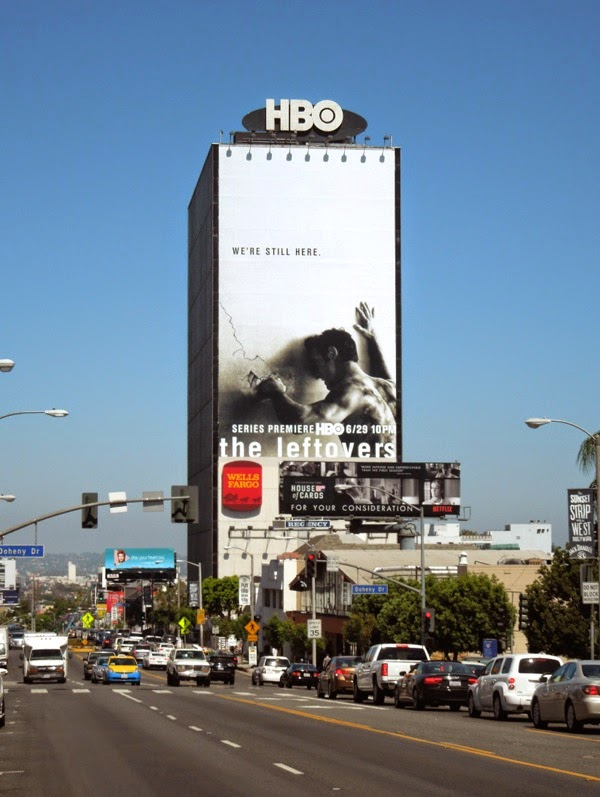 The Leftovers giant season 1 billboard Sunset Strip