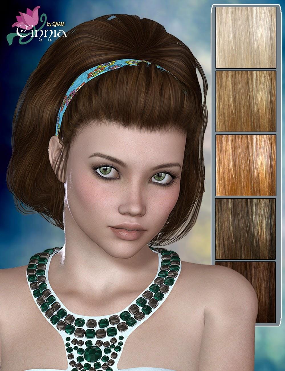 Cinnia cheveux pour Genesis 2 Femme et Victoria 4