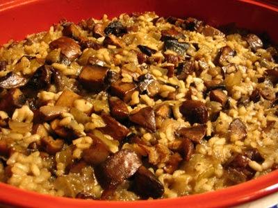 Baked Mushroom Risotto