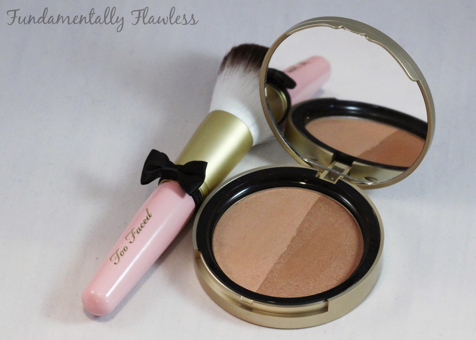 Too Faced Sun Bunny Bronzer and Powder Pouf Brush