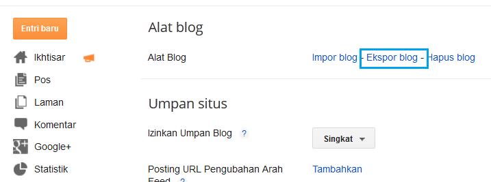 Cara Memindahkan Postingan Dari Blog Satu Ke Blog Lain