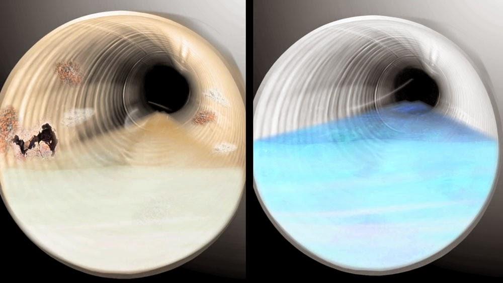 Desatasco tubería antes y después
