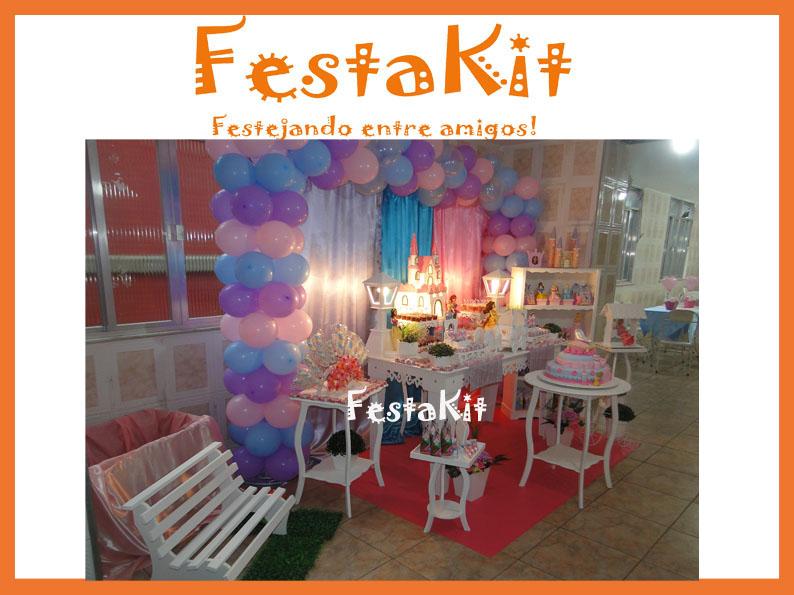 Decoração Yasmim ~ FestaKit FESTA PROVEN u00c7AL AS PRINCESAS YASMIM