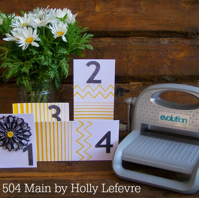 DIY Letterpress Table Numbers by 504 Main