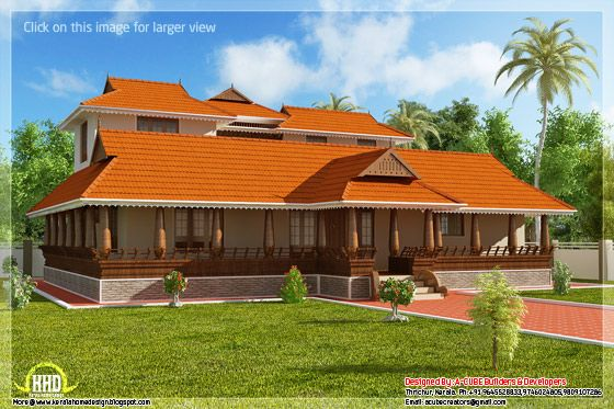 Kerala illam traditional house view 1