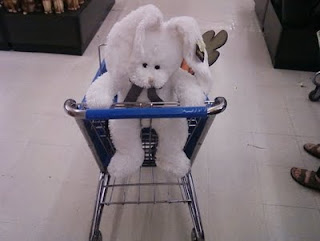 easter bunny with basket hat