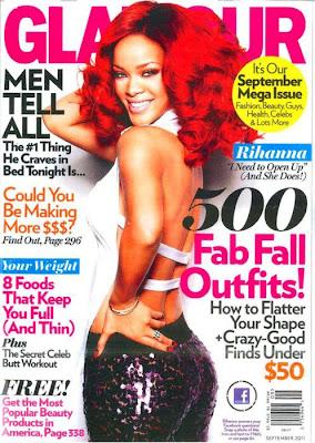 >Rihanna en couv' de Glamour Magazine