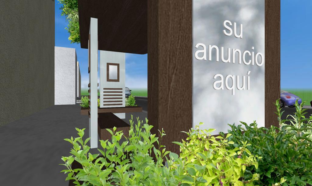 Parabus Ecologico - Ondine Var. 5 - Con Jardin en la Azotea y Jardineras Laterales y Espejos/Mupis pequeños - Zen Ambient - Mexico