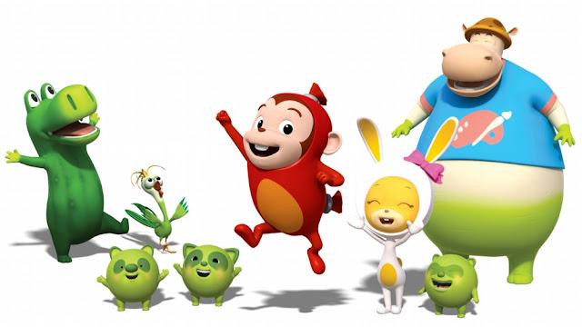 Personajes de la serie infantil Cocomong de Corea