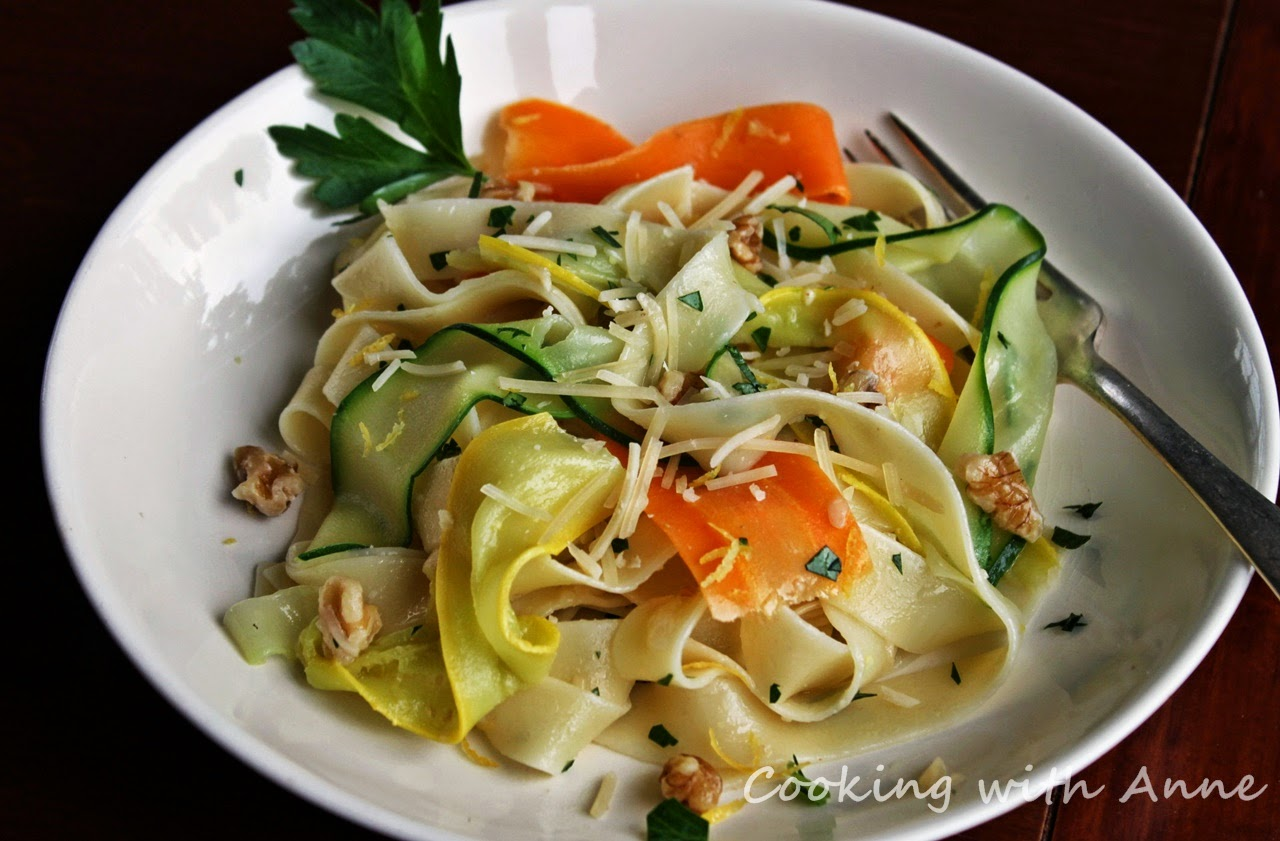Pappardelle and Vegetable Ribbons