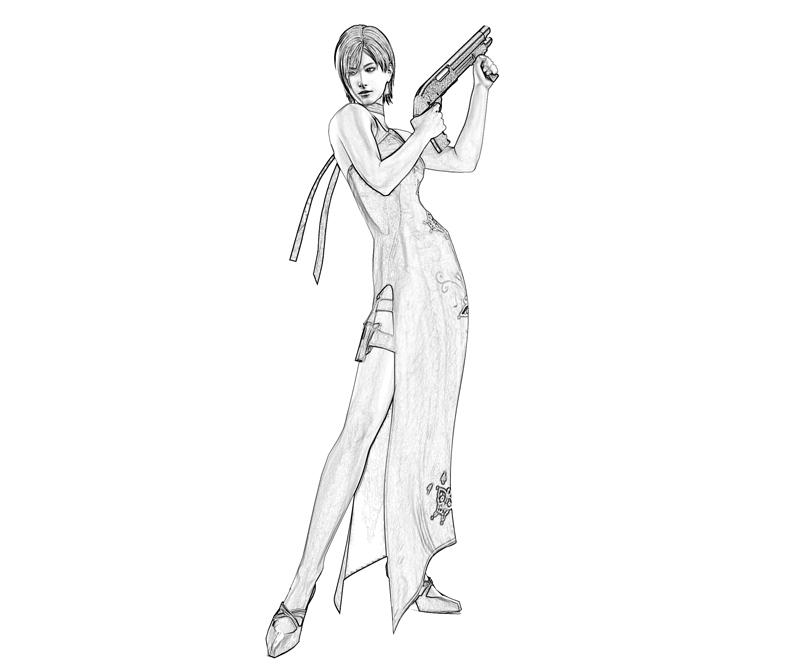 resident-evil-ada-wong-gun-coloring-pages