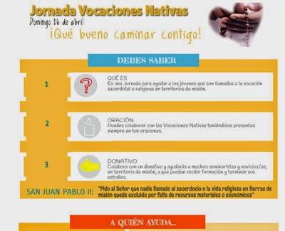 Donativo para Vocaciones Nativas - Colabora con Vocaciones Nativas