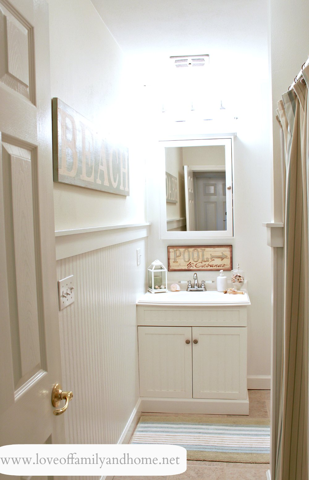 Hallway Bathroom Makeover Reveal Love Of Family Home