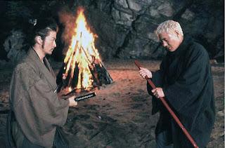 Takeshi Kitano and Tdanobu Asano in Zatoichi