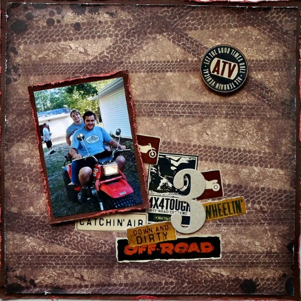 Outdoors Scrapbook Layout