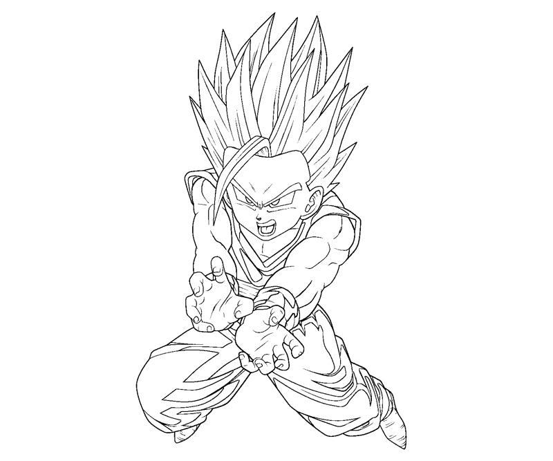 Gohan 11 Coloring Crafty Teenager Z Gohan Coloring Pages