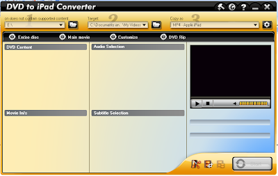 Aviosoft DVD to iPad Converter Screenshot